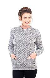 7b51b90d04b Aran Woollen Mills Supersoft Merino Wool Chunky Cable Cowl Sweater