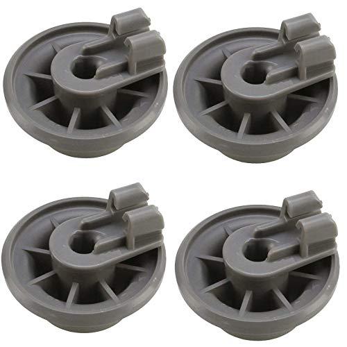 4X Korbrollen, Geschirrspüler Unterkorb Räder für Bosch Siemens Neff Küppersbusch Balay 611475 00611475 436718 Spülmaschine