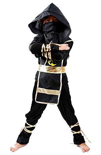 Costume ninja Bimbo 11 14 anni Vestito samurai Carnevale spalla/terra 130 140cm Idea Regalo Natale Compleanno Festa