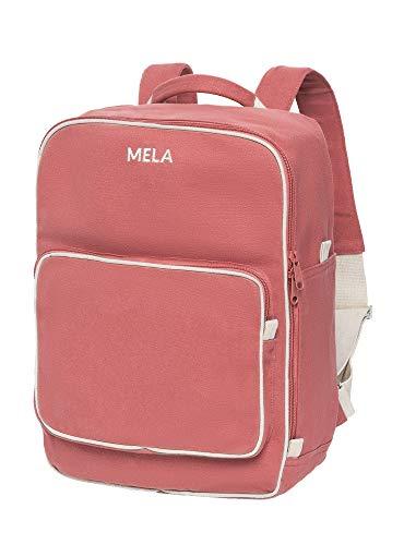 MELAWEAR MELA II Rucksack - Nachhaltig mit Fairtrade Cotton, GOTS und Grüner Knopf Zertifizierung, Farben MELA II:altrosa