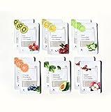 HNB - My Fruit Mask Pack, Mascarillas Faciales Coreanas Hidratantes de Frutas, 12 Unidades