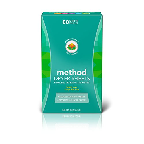 Method Dryer Sheets, Beach Sage, 80 Sheets