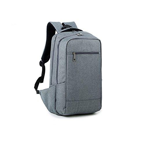 Evay Slim e leggeri zaini casual per zaino universitario per adolescenti adatti a 15.6 pollici borsa per notebook portatile per zaini scuola stile vintage uomo grigio