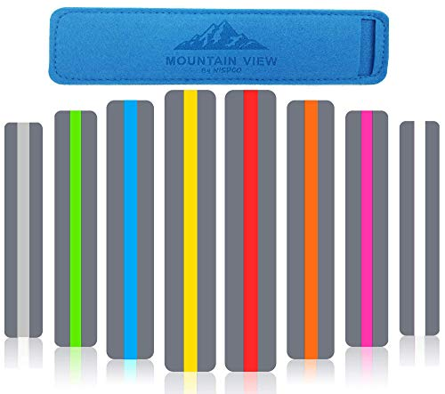 (8 PACK) Reading Guide Strips by NISPCO / Highlighter / Highlight Strips / Colored Overlays / Bookmark / Assorted Colors /helps with dyslexia / DOMINATION PRODUCTS Exclusively by NISPCO