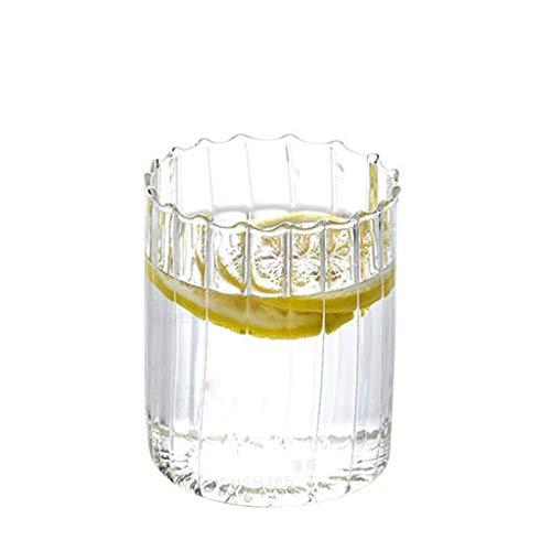 Joocyee 250 Ml / 450 Ml Ripple Wave Vasos de Whisky Whisky Cóctel Bebida Copa de Vino Bar, 450 Ml Vaso Ondulado, 450 Ml