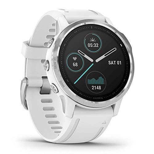 Garmin Fenix 6S, reloj GPS multideporte definitivo, tamaño más pequeño, ajuste de calor y altitud V02 Max, sensores de pulso y foco de carga de entrenamiento, blanco