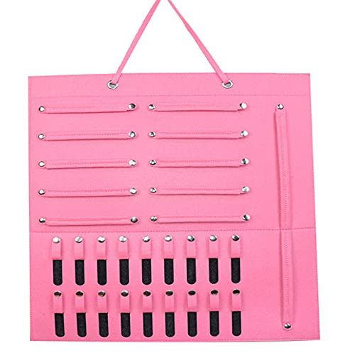 Headband holder-storage bag for newborn baby girl headbands, bows, headbands and hair accessories for display (Color : Pink)