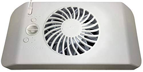 Suncourt Equalizer EZ8 Register Booster Fan, Improve Heating and Air Conditioning Efforts (HC600)