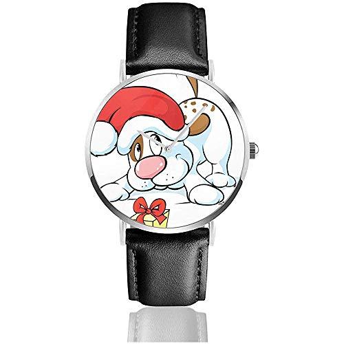 Relojes de Pulsera Reloj de Cuarzo - Lindo Perro con Gorro de...