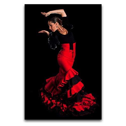 WPQL Cartel de arte moderno de danza española Magrini para la sala de estar, el hogar, el hotel, decorativo mural de impresión artística, 30 x 45 cm
