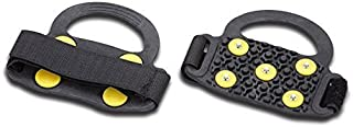 Sports Imports LLC Strap on Snow & Ice Traction Aid Studs Grips for Heeled Shoes