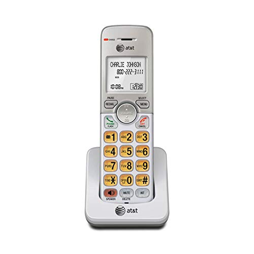 AT&T EL50003 Accessory Cordless Handset, White | Requires AT&T EL52103, EL52203, EL52253,EL52303, EL52353, EL52403, or EL52503 to Operate, Silver, 6.90 x 3.00 x 3.40 inches