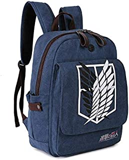 Attack on Titans Anime theme Waterproof canvas thickening personality backpack Shoulder bag Leisure travel bag