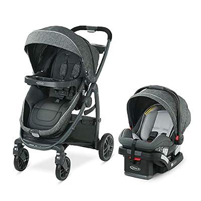 Graco Modes Bassinet Travel System | Includes Modes Bassinet Stroller and SnugRide SnugLock 35 Infant Car Seat, Wynton
