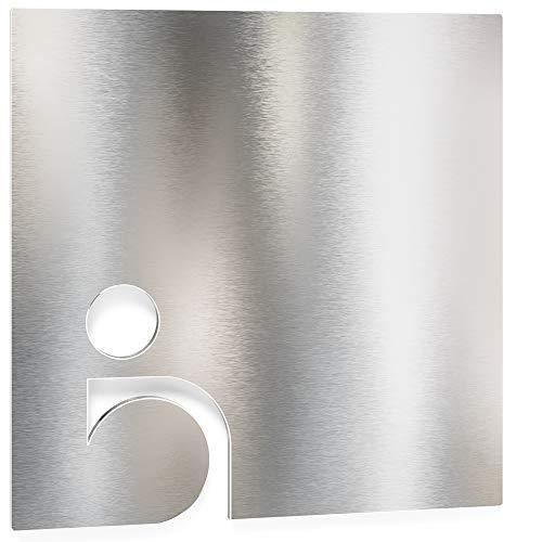 Edelstahl WC-Schild – selbstklebend & pflegeleicht – Design Toiletten-Schild – Rollstuhl-Fahrer Piktogramm – B.03.E