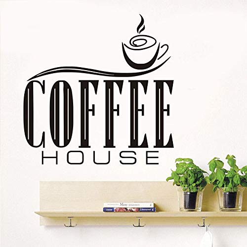 zqyjhkou Ankunft kaffeehaus Zitate wandaufkleber DIY abnehmbare Nette kaffeetasse tapete küche Restaurant Vinyl Wand d44x87cm