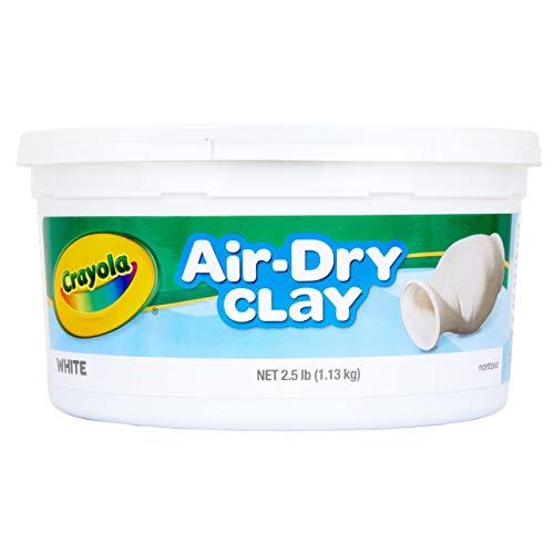 Crayola Air Dry Clay 2.5 Lb Bucket, White