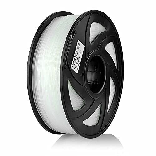 S SIENOC 1Kg PLA 1,75mm 3D Printer Filamento Spool 3D Materiale di stampa per stampanti (PLA Trasparente)