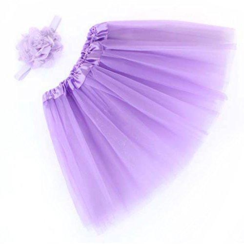 KVbaby 2 Pack Baby Meisjes Prinses Tutu Rokken Party Ballet Jurk Set met Elastische Hoofdband voor Photo Props Outfits