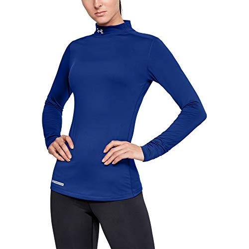 Under Armour Women's ColdGear Authentics Compression Mock , Royal (400)/Metal , Medium