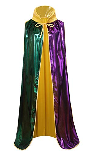 yolsun Mardi Gras Cape, Women Shiny Costume for Mardi Gras