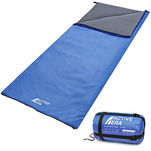 Active Era Ultra Lightweight Sleeping Bag Indoor & Outdoor - Compact, Ultralight Sleeping Bag for Warm Weather - Camping Sleeping Bags for Warm Weather, Sleepovers, Fishing, Outdoor Camping and Hiking
