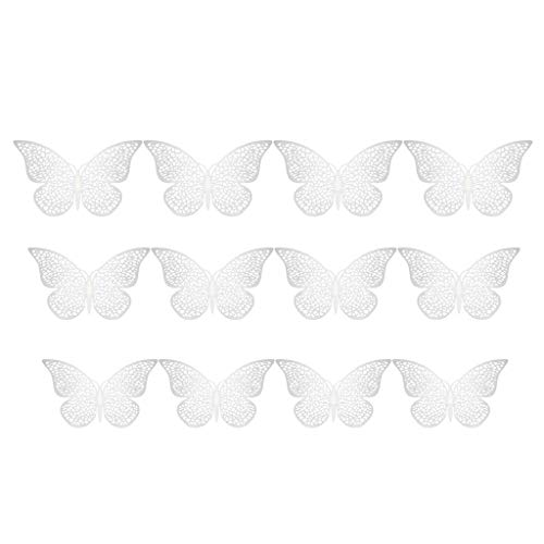 Printasaurus The Stickers 12 Pcs 3D Hollow Wall Stickers Butterfly Fridge for Home Decoration New Home & Garden Home Decor
