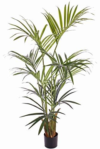artplants.de Set 'Palmera Kentia Artificial + Spray de protección UV' - Palma Kentia Decorativa Paige, 180cm