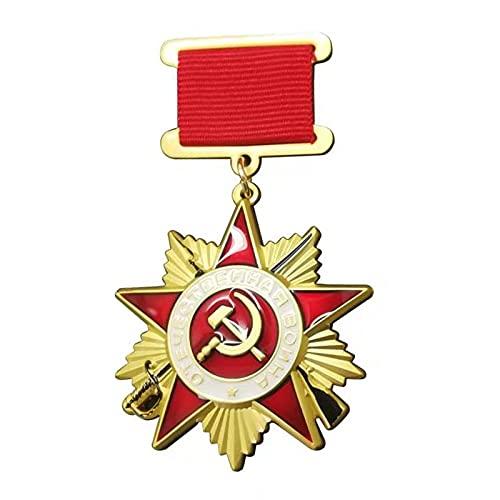 QLTY Medalla de la Guerra patriótica soviética,Medalla de Broche de Recuerdo de la Segunda Guerra Mundial,Insignia de Medalla Militar,Insignia de Metal,Broche de decoración Militar soviética