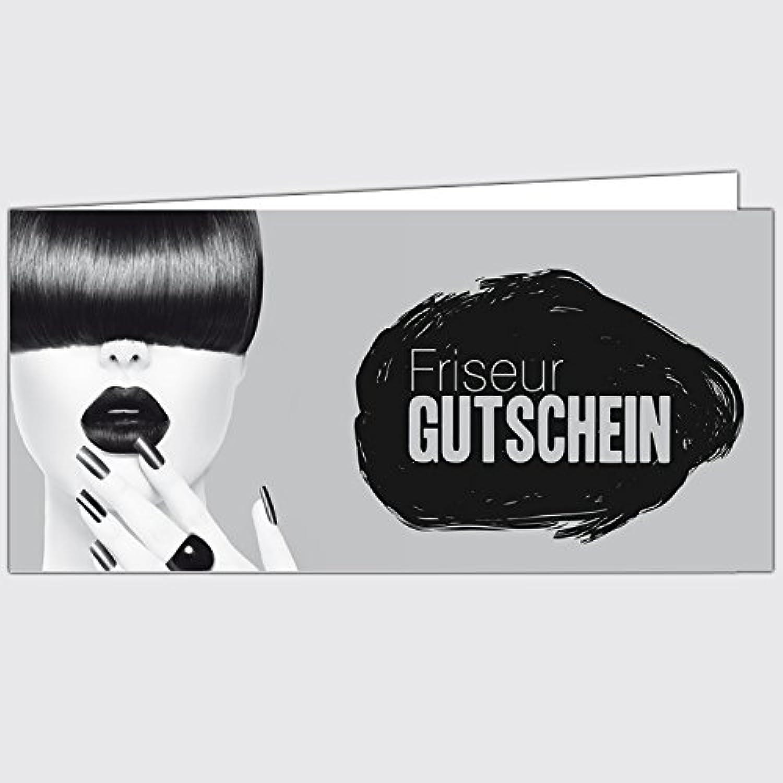Gutschein  Friseur - Mausgrau  - Format  DIN Lang, 100 Stück B00LOQ7CCI   | Good Design