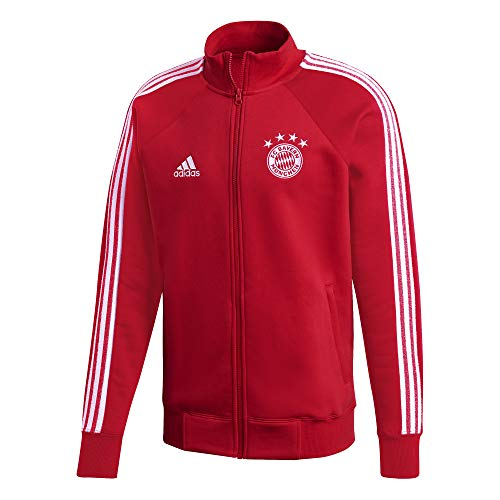 adidas - Giacca sportiva da uomo FC Bayern Icons, Uomo, Giacca da tuta, FR3979, Fcbtru/bianco., XL