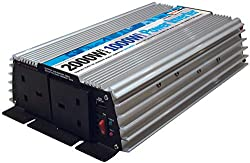 1000 Watt continuous power. 2000 Watt peak power. This power inverter enables you to operate 230v UK standard appliances outdoors' using a 12v car battery or portable 12v power source Includes USB charging socket for phones, laptops, music players & ...