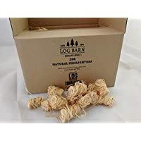 Natural Eco Wood Firelighters - Wood Wool Flame Fire Starters Great for Lighting Fires in Stoves, BBQ's, Pizza Ovens…