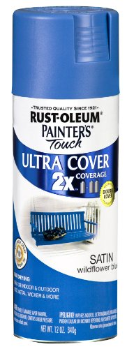 Painters Touch 249062 12 Oz Wildflower Blue Satin Ultra Cover Spray Paint