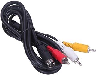 HDE Câble AV pour console Sega Genesis 2 et 3 consoles RCA composite audio vidéo connexion MK-1461 et MK-1631 (1,8 m)