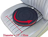 ObboMed SS-2723 Newly Large 360° Rotation Disc, Auto Swivel Seat Cushion, Ultra-Thin Flexible Design Special Fit Car Vehicle Sport Seat Space, Easy Movement to Enter/Exit, Diameter 13' x 1', 1 Piece