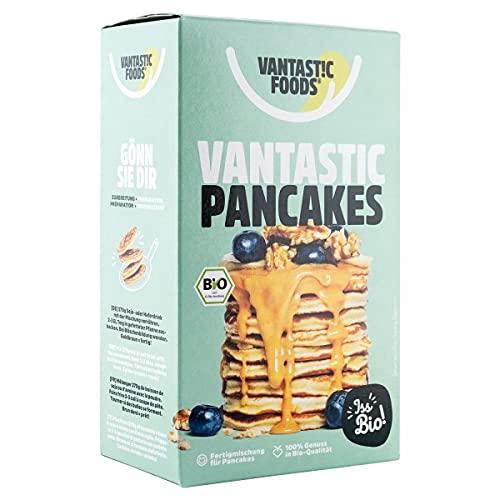 Vantastic foods VANTASTIC PANCAKES, BIO, 180g | Vegan | BIO-FERTIGMISCHUNG ZUR ZUBEREITUNG VON PANCAKES | Vegane Pancake-Backmischung von Vantastic foods