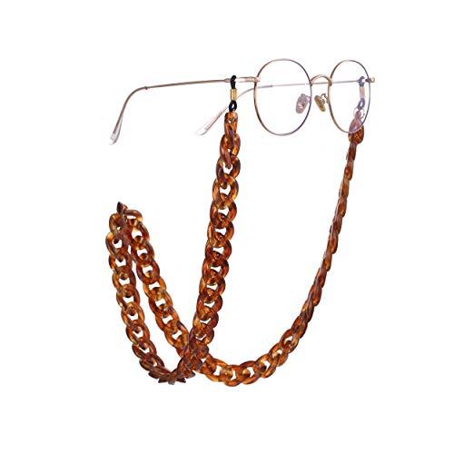 Eli-time Catena Occhiali Donna Zircone trasparente Cordino per Occhiali//Porta occhiali//Collana Carina per Coppia Amico di Famiglia