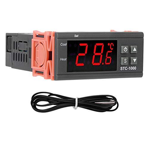AAAGX Controlador De Temperatura Interruptor Máquina De Acuario Pantalla Digital Electrónica Microordenador 24V
