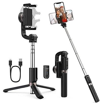 Yoozon Palo Selfie Eje estabilizador,Trípode de Teléfono antivibración compatible con iPhone/Samsung/Huawei/Xiaomi y más, 360°Gimbal rotable stabilizer para Video de Calidad, Selfies, Videollamada etc