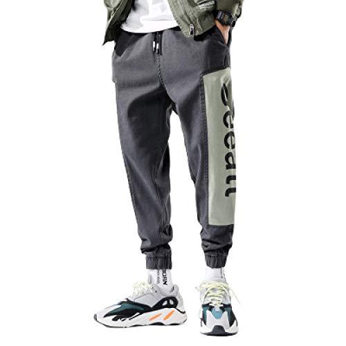Pantalones Harlan Informales de Moda para Hombre Pantalones Holgados con Estampado de Letras Personalizadas a Rayas Laterales Pantalones de Basculador con pies de Haz de Cintura elástica Small