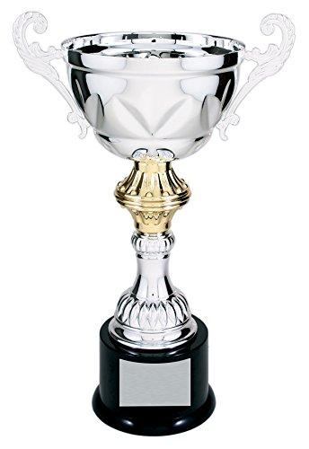 Decade Awards Pokal, Silber und Gold, Metall, Corporate Cup Award – 33 cm hoch – gravierte Platte auf Anfrage