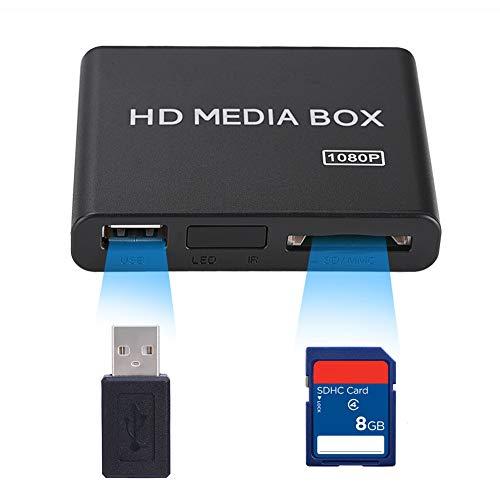 Reproductor de Video HD, compatibilidad de decodificación Fuerte, Soporte MMC RMVB MP3 AVI MKV, Conveniente y práctico(Transl, European regulations)