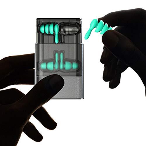 2 paar ruisonderdrukkende oordopjes zacht TPE herbruikbare gehoorbescherming oordopjes voor slapen, leren, werken, zwemmen, concerten en vliegtuigen