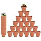 32 Pcs - 2.16' Small Mini Clay Pots Terracotta Pot Ceramic Pottery Planter Terra Cotta Flower Pot Succulent Nursery Pots - Great for Window Boxes, Cactus, Plants, Crafts, Wedding Favors