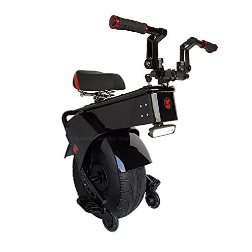 QIU Scooter Elettrico Adulto Moto con Una Ruota di stoccaggio Auto bilanciamento Scooter 18 Pollici Pneumatici Grassi Monociclo Elettrico 1500W velocità del Motore 25km / h (Color : Endurance 30km)