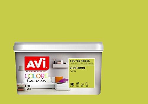 AVI - COLORE TOUTES PIECES - Haut Pouvoir Opacifiant - Satin - 2,5L - Vert Pomme