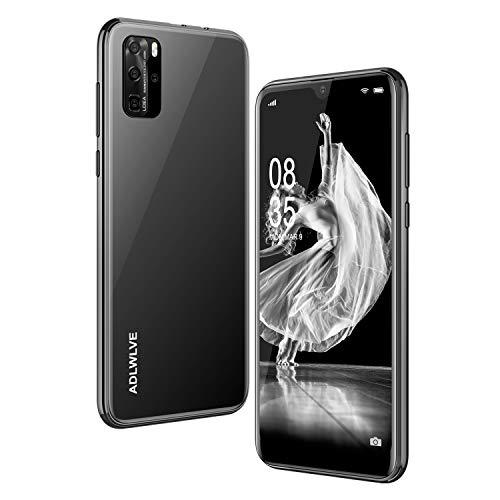 Teléfono Móvil Libres, 3GB RAM 32GB ROM Moviles Libres Baratos 4G,6,3 Water-Drop Pulgadas, Android 9.0, 4600mAh Batería, Smartphone Barato Dual SIM, Cámara 8MP, Face ID Smartphone Libre (Negro)