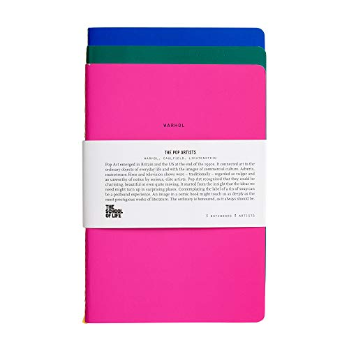 The School of Life - School of Thought Notebooks: The Pop Artists - 3 Notebooks, 3 Thinkers