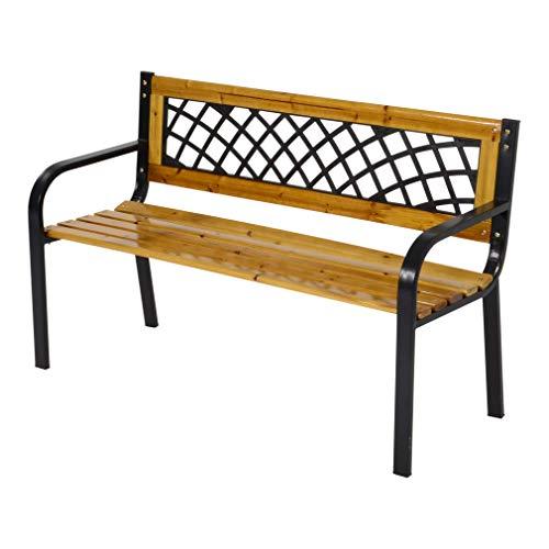 LLiving Bank Gartenbank Parkbank York 118 cm Metall und Holz